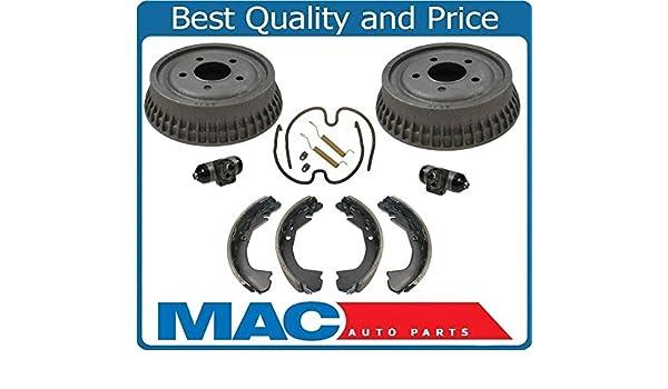 Malibu Cutlass Grand Am Rear Brake Drums /& Shoes 8939 BS720 H7287 W Cly
