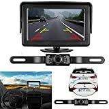 iStrong Backup Camera and Monitor Kit 9V-24V Reverse Camera only need single power Rear view or Fulltime View optional For Car Vehicle Truck Van Caravan Trailers Camper with 7 LED Night Vision