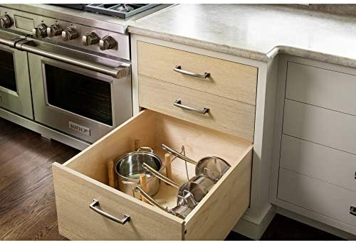 Amazon Com Rev A Shelf 4dps 3021 Medium 30 X 21 Inch Wood Peg Board System For Deep Drawers Organizer With 12 Pegs And Exact Fit Customization Natural Maple Home Kitchen