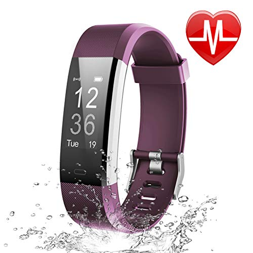 Letsfit Fitness Tracker, Activity Tracker with Heart Rate Monitor and Sleep Monitor, Step Counter Pedometer Watch, IP69 Water Resistant Smart...