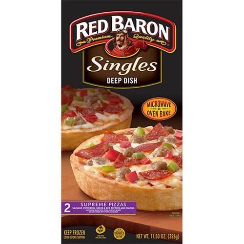 Red Baron Deep Dish Single Supreme Pizza, 12 Ounce -- 12 per case.