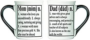 Tumbleweed Mom and Dad Definition Mugs - Set Of Two Mugs For Mom and Dad Coffee Cups - Large 18 Oz Coffee Cups