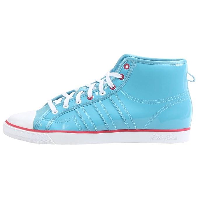 huge discount 3a679 31295 Adidas Originals Women s Nizza Hi Sleek Shoe,Sky White Pink,8 M
