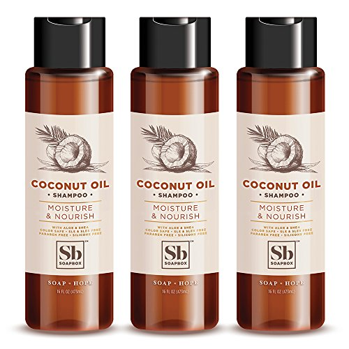 SoapBox Soaps Shampoo, Coconut Oil with Shea Butter, 3 Count