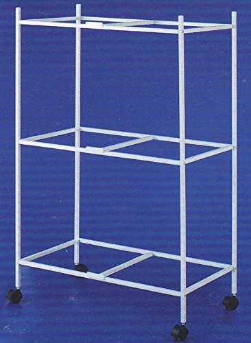 3-Shelves Stand for 30'' x 18 x 18''H Cages, White