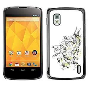 YOYO Slim PC / Aluminium Case Cover Armor Shell Portection //Cool Funny Majestic Dragon Creature //LG Google Nexus 4 by icecream design