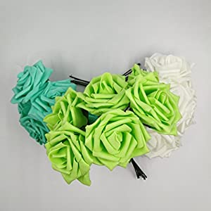 30 Pieces of Artificial Foam Roses Wedding Decoration Handmade Clip Art Home Decoration Bouquet 68