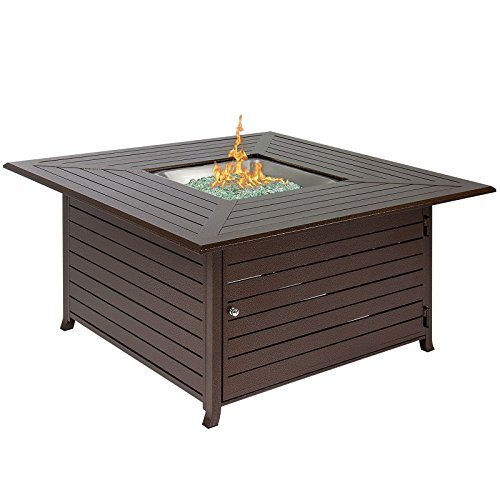 LTL Shop Extruded Aluminum Gas Outdoor Fire Pit Table With (Aluminum 48