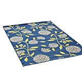 Cheap Great Deal Furniture Tilda Outdoor Floral 5 x 8 Area Rug, Blue and Green