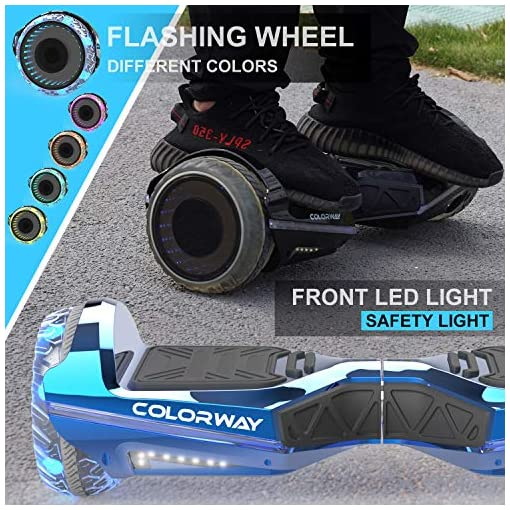 COLORWAY CX911 Advanced Premium Hover Scooter Board – Overboard SUV 6.5» avec Bluetooth APP Moteur 700W – Gyropode Scooter Electrique
