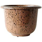NOVELTY Round Glazetone Planter, 12-Inch, Mocha