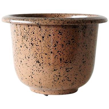 NOVELTY Round Glazetone Planter, 19-Inch, Mocha