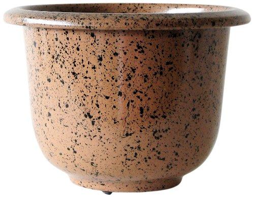 (Novelty Round Glazetone Planter, 16-Inch, Mocha)