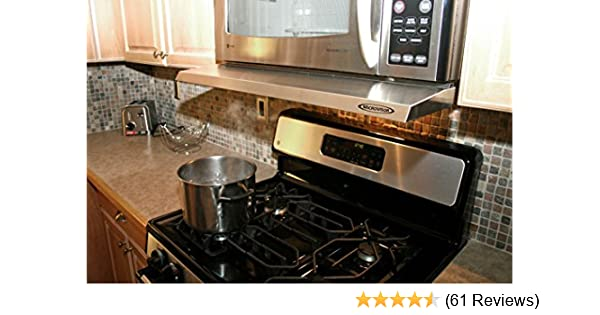 Amazon.com: Microvisorhood   A Mini Hood Extension For Your Microwave Over  The Range  STAINLESS STEEL: Kitchen U0026 Dining