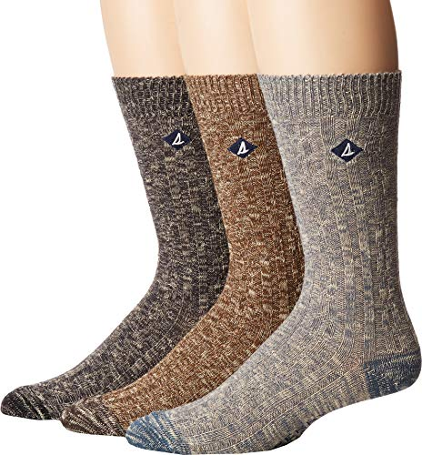 's 3 Pack Casual Crew Socks, Blue Wing Assorted, Shoe 6-12/Sock Size 10-13 ()