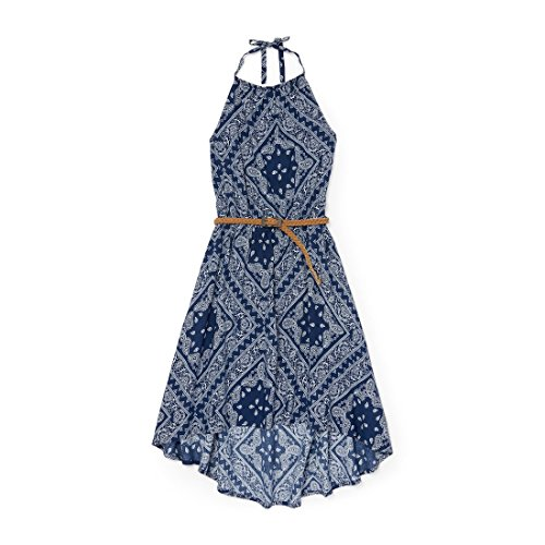 The Children's Place Big Girls' Off Shoulder Casual Dress,Shipyard 6396,L (10/12)