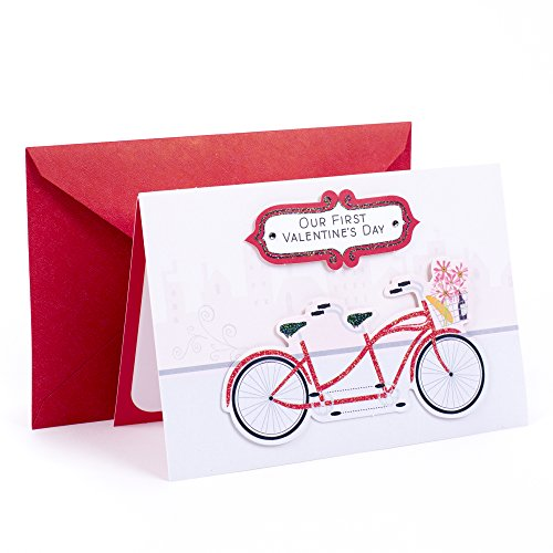 Hallmark Valentine's Day Greeting Card for Romantic Partner (First, Tandem Bicycles)