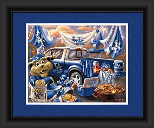 entucky Men's Family Cheer Framed Art Print, Medium, Team Color (Kentucky Art Glass Frame)