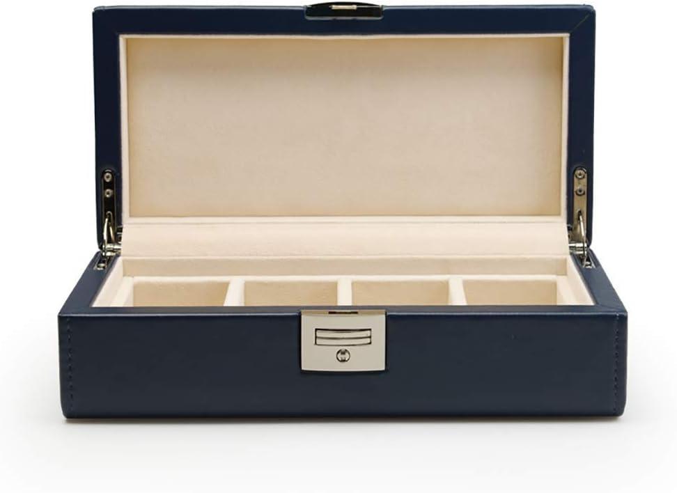 ZLMMY Contenitore di vigilanza for Gli Uomini - Case 4 Slot Display in Fibra di Carbonio Mens di Disegno, Grande Supporto, Fibbia in Metallo (Color : A) B