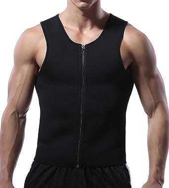 49a1fc08e1c Firstr Men Waist Trainer Vest for Weightloss Hot Neoprene Corset Body  Shaper Zipper Sauna Sweat Tank