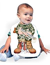 Just Add A Kid Baby Boy's Hunter 063 Baby Bib 0-6 Months White