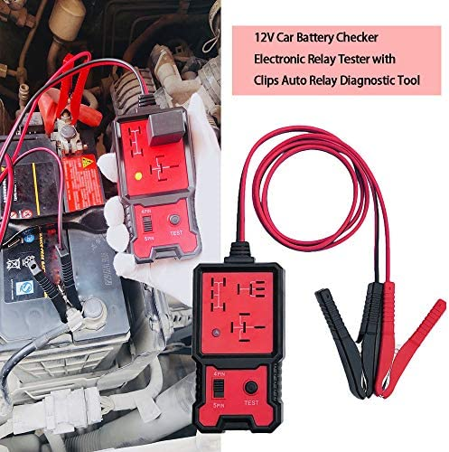 Kkmoon Auto Relais Tester 12v Autobatterie Tester Elektronische Relais Tester Mit Clips Auto Relais Diagnosegerät Werkzeug Auto