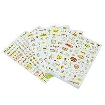 SODIAL(R) 6 Sheets Cute Lovely Kids DIY Schedule Diary Calendar Filofax Decor Sticker New