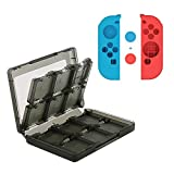 Nintendo Switch Case Professional Accessories Kit - Anti-Scratch Protective Cover PC Slim Case,24-in-1 Game Card Storage Box .