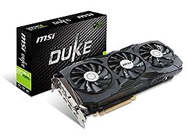 MSI Gaming GeForce GTX 1080 Ti 11GB GDRR5X DirectX 12 352-bit VR Ready Graphics Card (GTX 1080 TI Duke 11G OC) (Certified Refurbished)