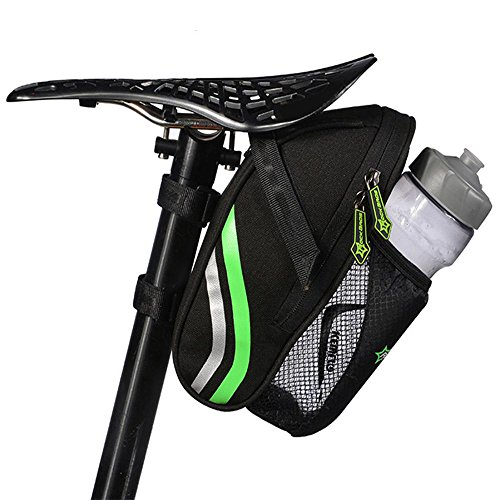 - Ezyoutdoor Bicycle Tail Rear Seat Post Bag with Bottle Bag Reflective Tape and Tail Light Hook MTB Mountain Road Bike Cycling Bags