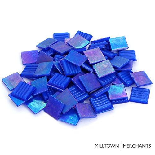 Milltown MerchantsTM Iridescent Mosaic Tile (1 Pound, Deep Sea Blue - 3/4 ()