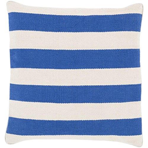 "20"" Rayas Banderas Royal Blue and Light Gray Decorative Square Throw Pillow"