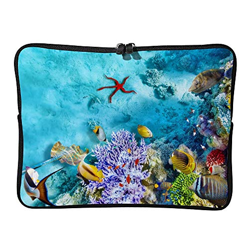DKISEE Abstract Seaworld Neoprene Laptop Sleeve Case Waterproof Sleeve Case Cover Bag for MacBook/Notebook/Ultrabook/Chromebooks ()