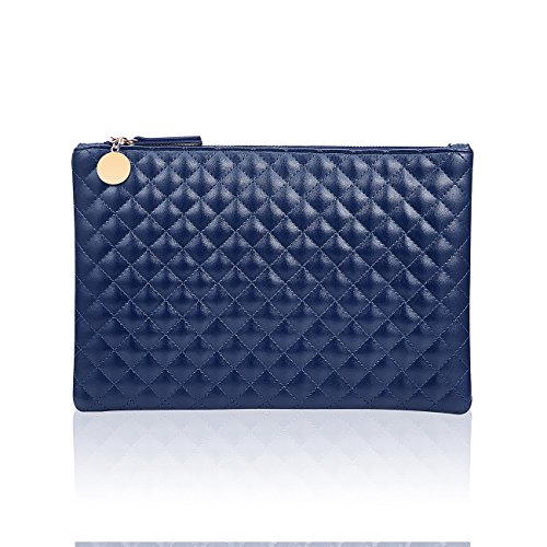GGBAZZARA Quilted Diamond big clutch wristlet Pattern Handbag Purse Large Wristlet Phone Clutch - Quilted Clutch Oversized