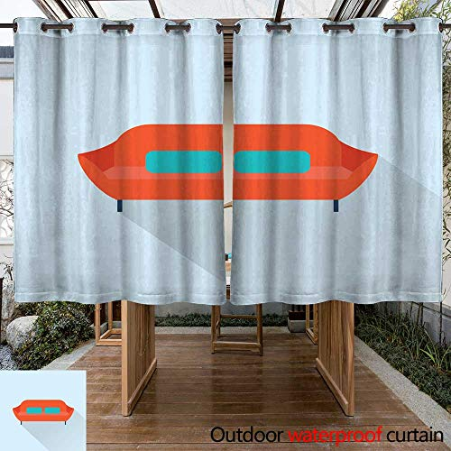 Home Patio Outdoor Curtain Vector Sofa icon W55 x L72