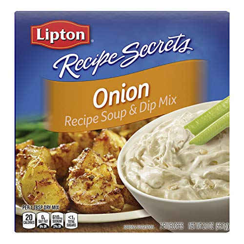 Lipton Recipe Secrets Soup and Dip Mix Single-Serve Package for Easy Seasoning, 2 Envelopes, 2 Oz