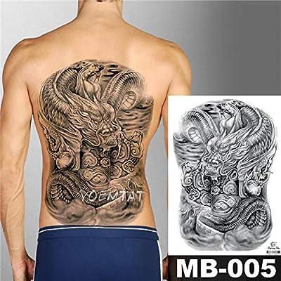 tzxdbh 2Pcs-Flower Tattoo Sticker Ladies Chest Belly Costume ...