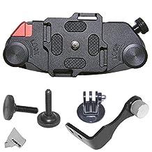 """Fomito Updated K1 Camera Clip Waist Spider Belt Holster 1/4"""" Screw Quick Release Strap Buckle for DSLR Digital SLR Camera GoPro,etc"""