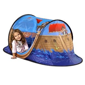 Tente de jeux Tente de jouer pour enfant bateau pirate Tente pop up ...