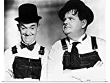 Great BIG Canvas Poster Print entitled Laurel And Hardy