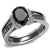 Women's 3-Piece Two-Tone Engagement & Wedding Rings Set (7)