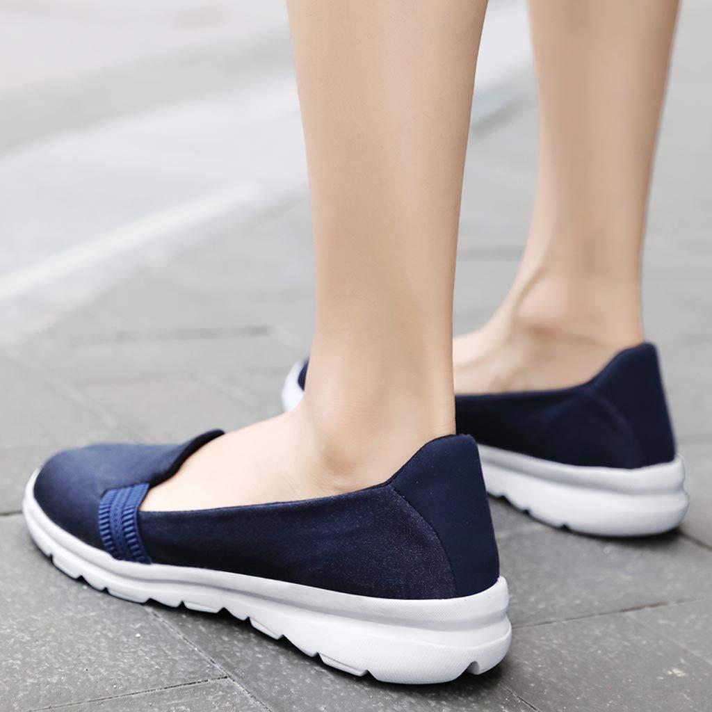 VonVonCo Women's Fashion Color Flat Shoes Comfortable Versatile Shoes Comfortab Blue