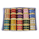 MUCH-MORE Unique Bollywood Fashion Indian Bangles Box Multi Color Party wear Bangles Jewelry (2.6)