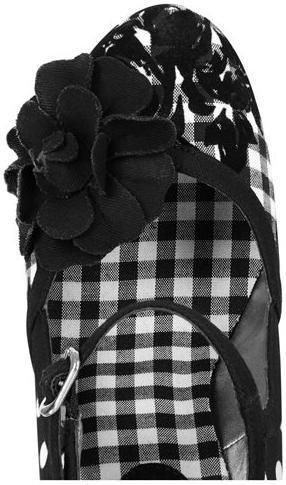Black Gingham Spots Friendly 9 Shoo Shoes Vegan eu Ruby Floral Ladies Hannah 42 uk xqwtw6gn