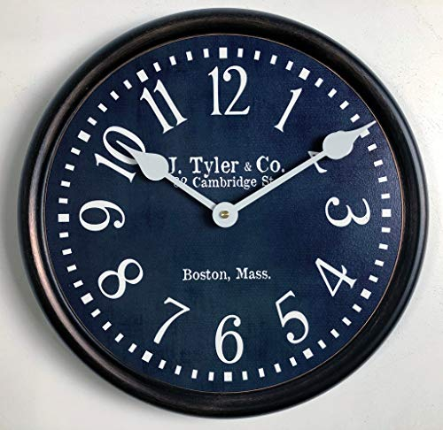 Navy Blue Wall Clock, Available in 8 Sizes, Most Sizes Ship The Next Business Day,