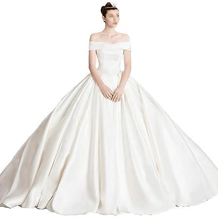 CAIM-Dresses Vestido de Novia Plisado sin Tirantes de Estilo Retro ...