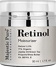 Retinol Cream from Majestic Pure, 1.7 fl. oz. - Multipurpose Anti Aging Retinol Face Cream & Eye Cream Reduces the Appearances of Wrinkles, Stretch Marks & Redness