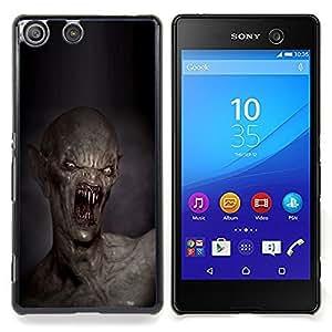 GIFT CHOICE / Teléfono Estuche protector Duro Cáscara Funda Cubierta Caso / Hard Case for Sony Xperia M5 // Teeth Kill Death Monster Creepy //