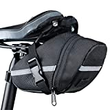 Bicycle Saddle Bags Under Seat Bag Waterproof Strap-On Bike Seat Pack Reflective Trim Cycling Wedge Bags Professional Cycling Accessories
