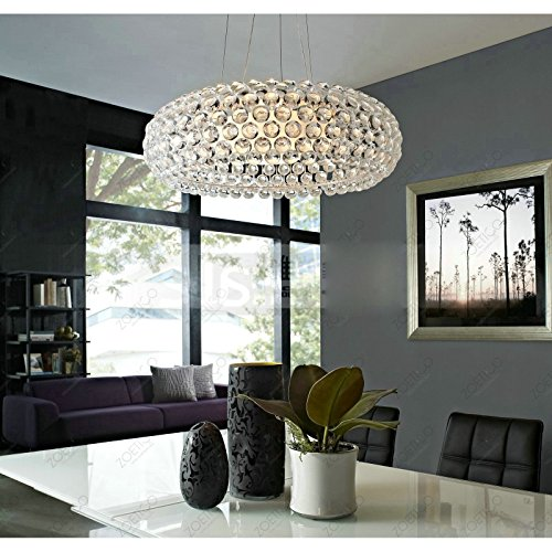 Modern 35cm / 50cm / 60cm Foscarini Caboche Ball Study Room Ceiling Pendant Light Dining Room Chandelier Living Room Pendant Lights (Medium) (Pendant Caboche)